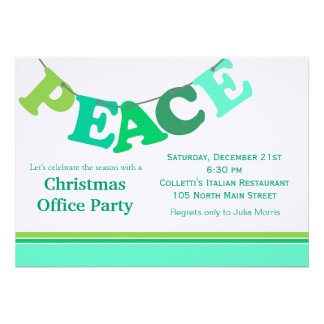 Peace Letter Banner Personalized Invitations