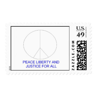 peace liberty and justice for all stamps