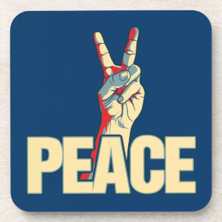 Peace Liberty Logo Beverage Coasters
