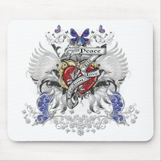 Peace Life Love Freedom Mouse Pad