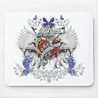 Peace Life Love Freedom Mouse Pad