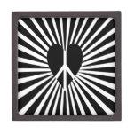 Peace Light Heart Silhouette Premium Trinket Boxes