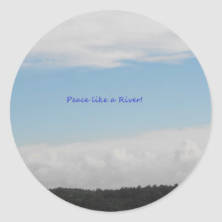 Peace Like a River Collection Round Sticker