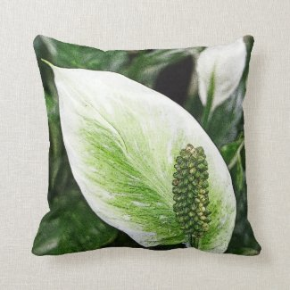 """PEACE LILY"" ACCENT THROW PILLOW"