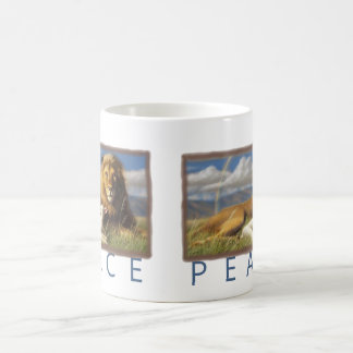 Peace  Lion and Lamb cup Classic White Coffee Mug