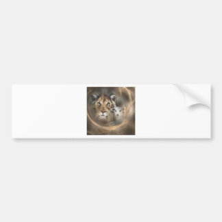"Peace ""lion lamb"" religious christion gifts Jesus Bumper Sticker"