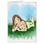 Peace - Little Loves Art Greeting Card