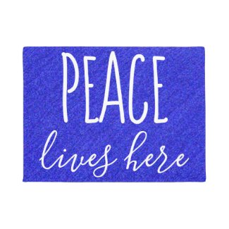 Cool Peace Quote Doormat