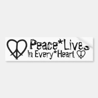 Peace*Lives - In Every*Heart Bumper Sticker
