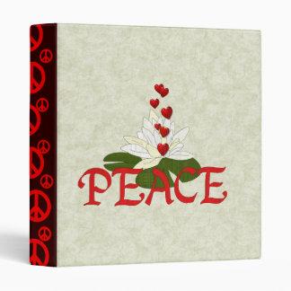 Peace Lotus 3 Ring Binder