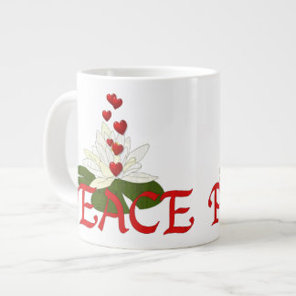Peace Lotus Giant Coffee Mug