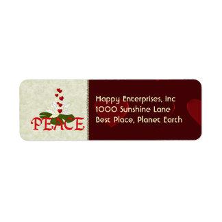 Peace Lotus Label