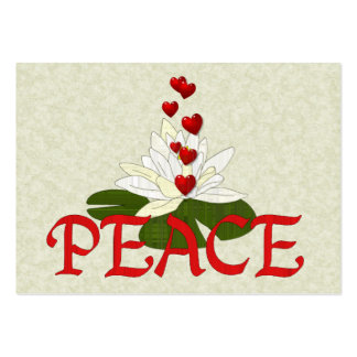 Peace Lotus Large Business Card