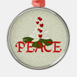 Peace Lotus Metal Ornament