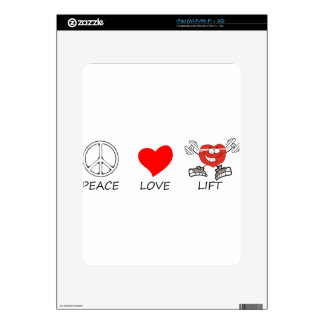 peace love22 decal for the iPad