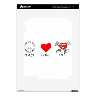 peace love22 skin for iPad 3