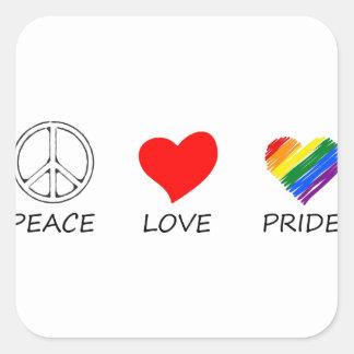 peace love26 square sticker