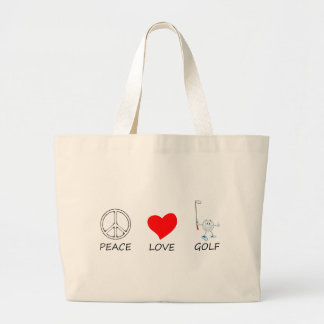 peace love27 large tote bag