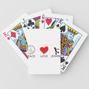 Halloween Themed peace love29 bicycle playing cards