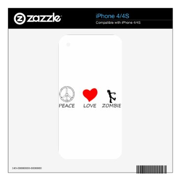 Halloween Themed peace love29 decal for iPhone 4