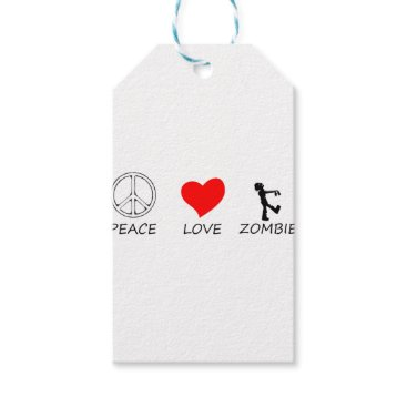 Halloween Themed peace love29 gift tags