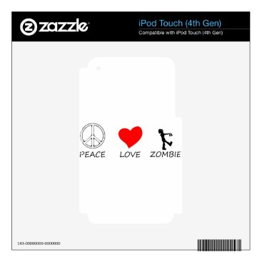 Halloween Themed peace love29 iPod touch 4G decal