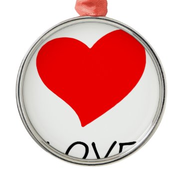 Halloween Themed peace love29 metal ornament