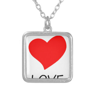 peace love29 silver plated necklace