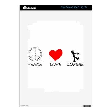 Halloween Themed peace love29 skin for iPad 3