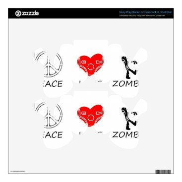 Halloween Themed peace love29 skin for PS3 controller