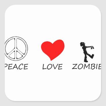 Halloween Themed peace love29 square sticker