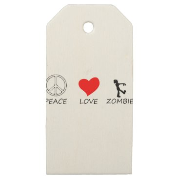 Halloween Themed peace love29 wooden gift tags