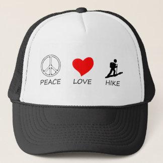 peace love33 trucker hat