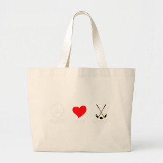 peace love37 large tote bag