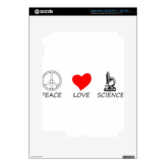 peace love3 iPad 3 decal