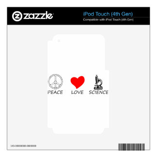 peace love3 iPod touch 4G skin