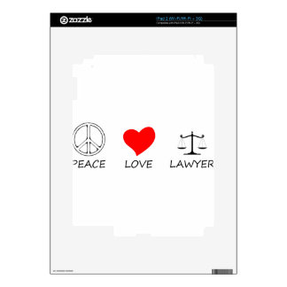peace love40 decal for the iPad 2