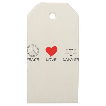 Lawyer Themed peace love40 wooden gift tags