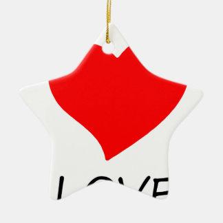 peace love5 ceramic ornament