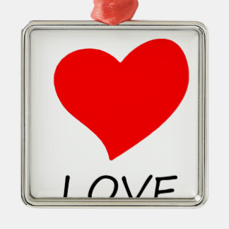 peace love5 metal ornament