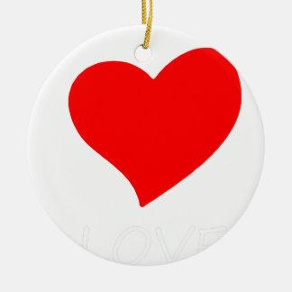 peace love6 ceramic ornament