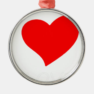 peace love6 metal ornament