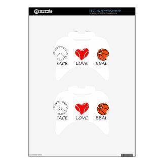 peace love7 xbox 360 controller skin