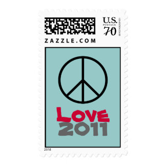 Peace Love 2011 Fun  Postage Stamps