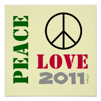PEACE LOVE 2015 Poster