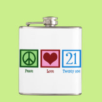 Peace Love 21 Flask