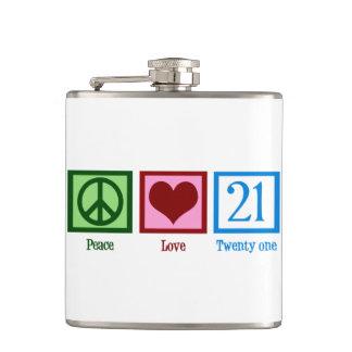 Peace Love 21 Flask