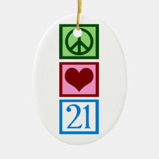 Peace Love 21 Ornaments