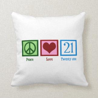 Peace Love 21 Pillow