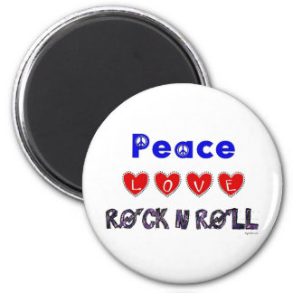 Peace Love 2 Inch Round Magnet